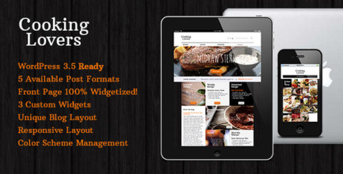 Cooking Lovers - Responsive WP Theme