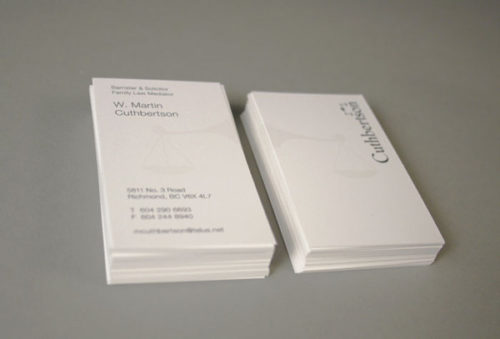 Cuthbertson Lawyer Business Card