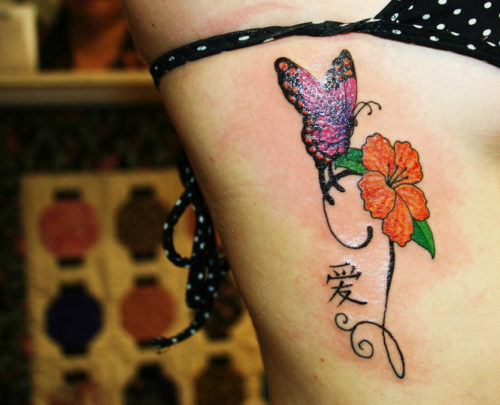Flower and Butterfly Tattoo Trend