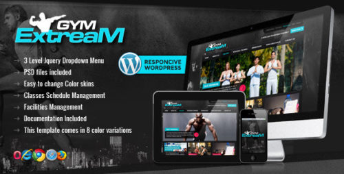 Gym Extream - Fitness WordPress Theme