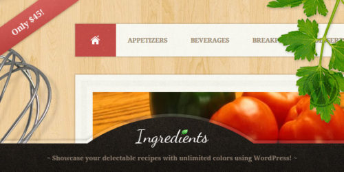 Ingredients - Recipe WordPress Theme
