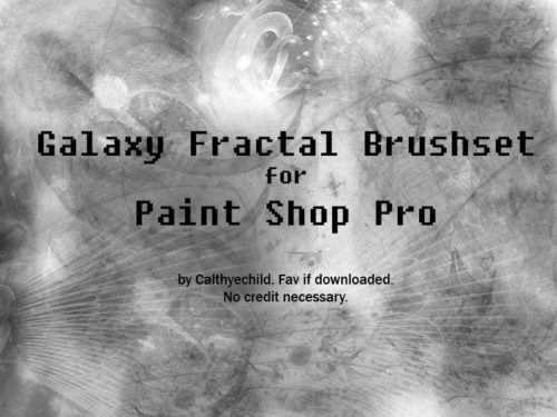 10 Galaxy Fractal Brushes