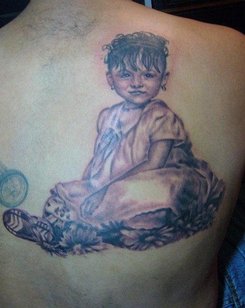 Girl Baby Portrait Tattoo
