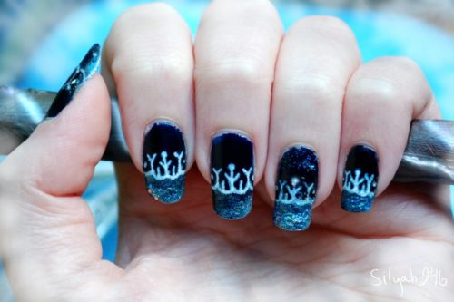 Jack Frost Inspired Nail Art