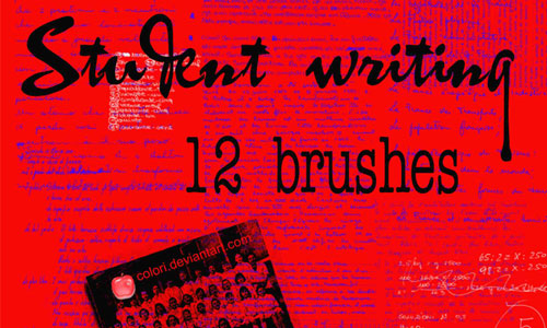 12 Student Writing Brushes