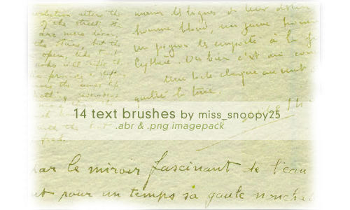 14 Text Brushes for Free
