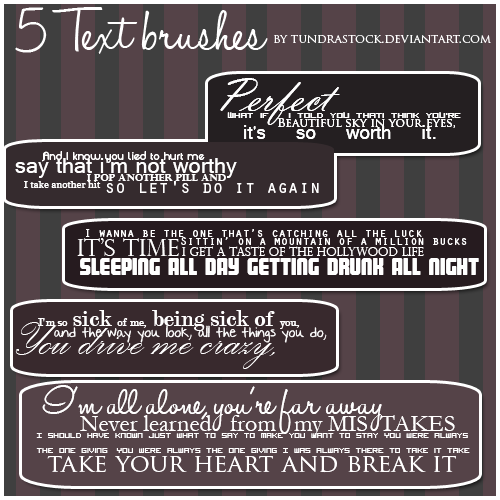 5 Adelitas Way Text Brushes