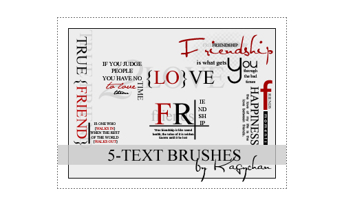 5 Text Photoshop Brushes