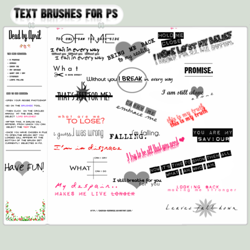 TEXT BRUSHES FOR PS