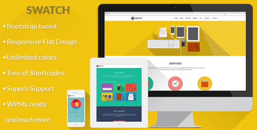 Swatch - Flat Responsive WP Theme