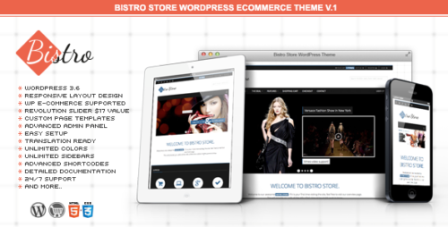 Bistro Store e-Commerce WordPress Theme