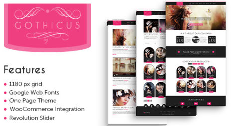 Gothicus - One Page WooCommerce WP Theme