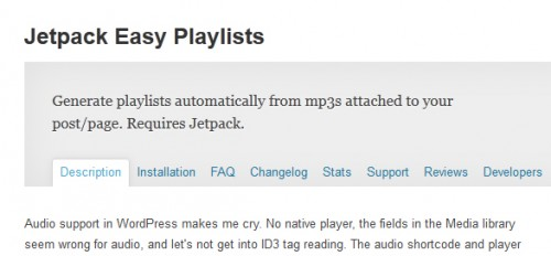 Jetpack Easy Playlists