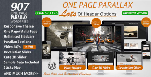 907 - Responsive WP One Page Parallax Theme