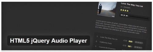 HTML5 jQuery Audio Player