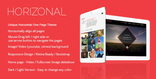 Horizonal - One Page WordPress Theme