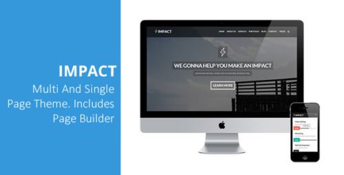 Impact - Multipurpose Single, Multi Page Theme