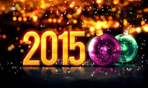 Abstract New Year Wallpaper 2015