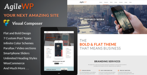 Agile - App Showcase WordPress Theme