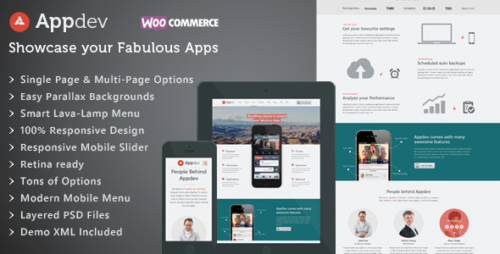 Appdev - Mobile App Showcase WordPress Theme