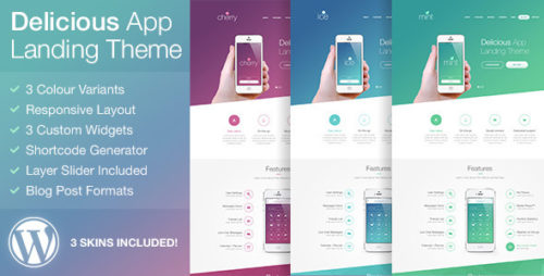 Delicious - Responsive App Landing WordPress Theme