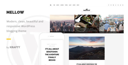 Mellow - Modern Responsive WordPress Blog Theme