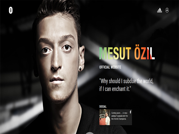 mesut-ozil - single page website designs