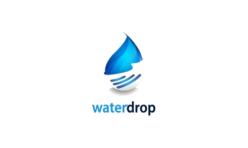 Cool Water Drop Logo
