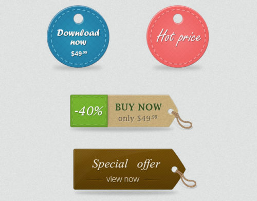 Free Price Tags PSD