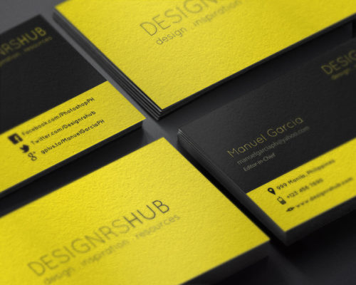 Minimal Business Card Design PSD