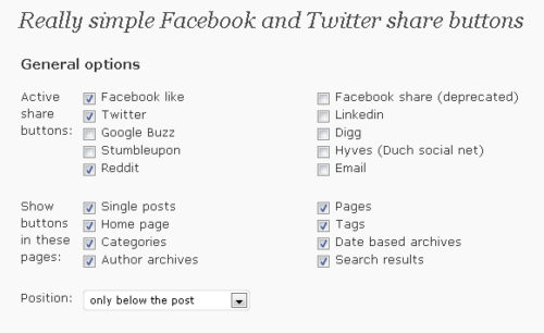 Really Simple Facebook Twitter Share Buttons