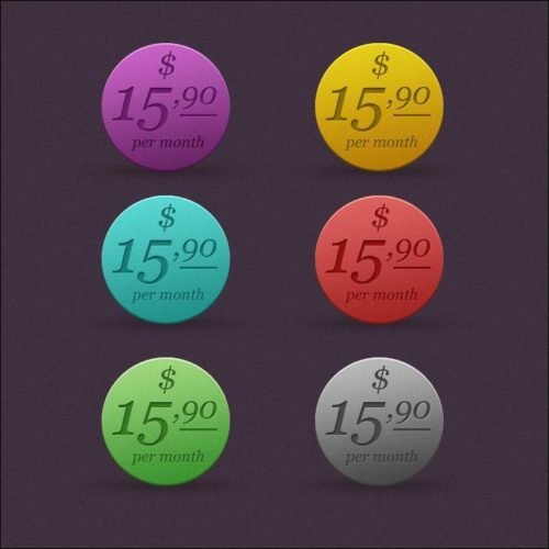 Round Colorful Price Tags