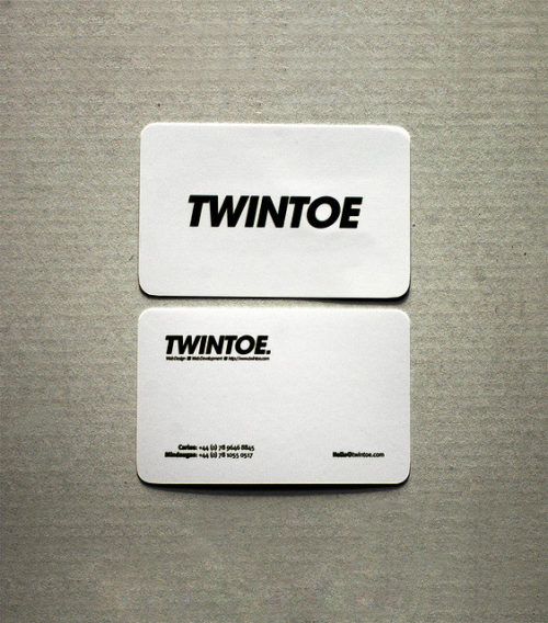Twintoe Business Card Design