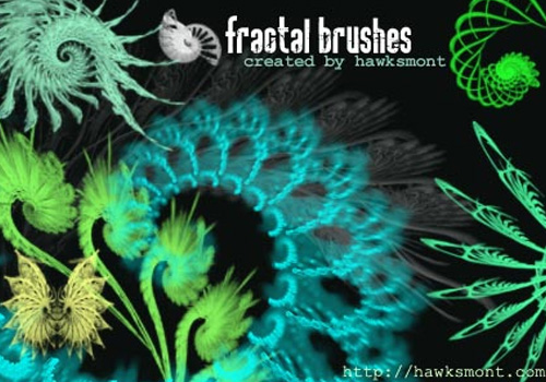 9 Fractal Brushes for Photoshop