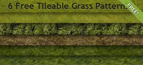 6 Free Tileable Grass Patterns