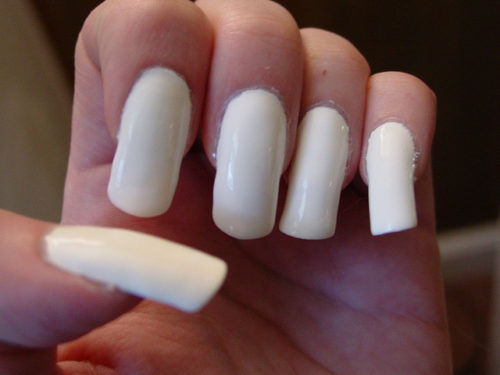 Girls White Nail Polish Ideas