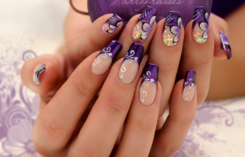 Misc Purple Nail Art