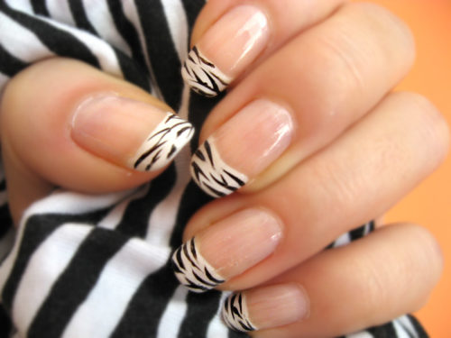 Zebra Nail Polish Art