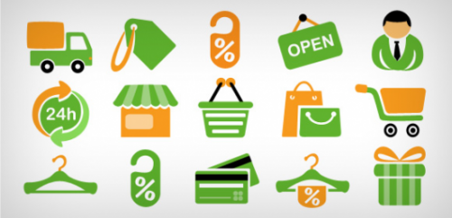 15 shopping icons Free PSD