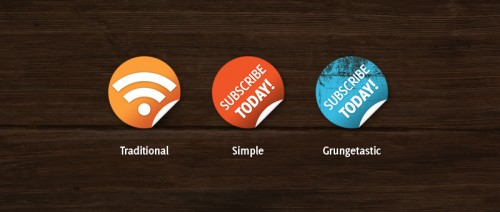 Nice 'n' Simple Subscribe Badges