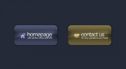 Nice Stylish Glossy Button in Photoshop