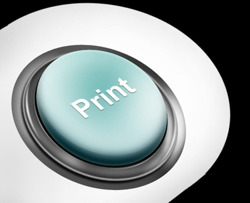 Photoshop Business Print Button Logo Icon