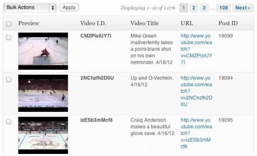 Automatic Youtube Video Posts Plugin