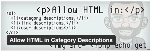Allow HTML in Category Descriptions