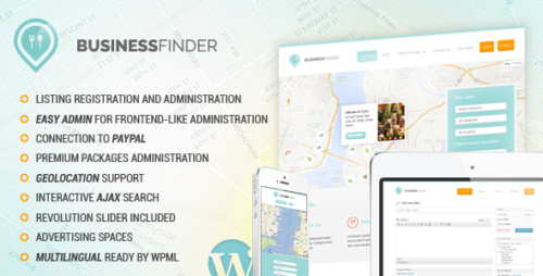Business Finder: Directory Listing WP Theme