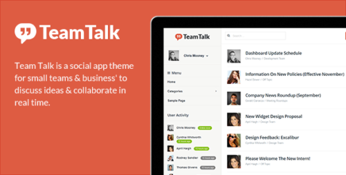 Team Talk - Real Time Collaboration Theme