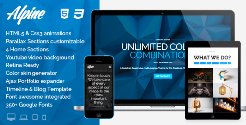 Alpine - WP Responsive One Page Parallax Theme