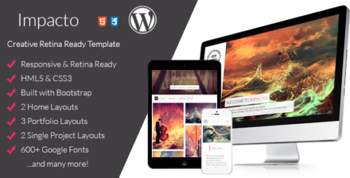 Impacto - Flavorful and Minimalistic WP Theme