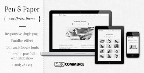Pen and Paper - Responsive WordPress Theme