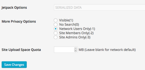 More Privacy Options